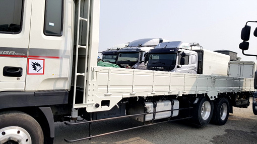 현대4.5톤 메가7m40앞축카고/53만키로